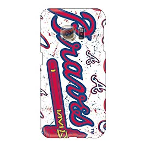 MarcClements Samsung Galaxy S6 Anti-Scratch Hard Phone Cover Allow Personal Design Fashion Atlanta Braves Pattern [Veu23893gTCh]