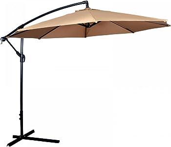 FDW Patio 10-Foot Outdoor Hanging Umbrella + $5.09 Rakuten.com Credit