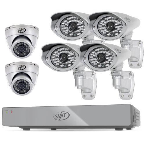 SENTINEL 8CH H.264 1 TB Smart Security DVR with 4 Ultra cams /2 Dome Cameras and Smart Phone Compatibility
