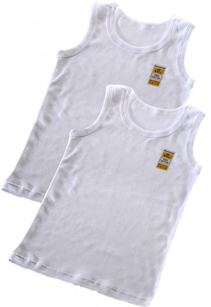 Boys Childrens Kids Underwear 2 Pack Warm White 100% Cotton Winter Vest Top Sizes 1-2 3-5 6-8 9-11 11-13 Years (2-3)