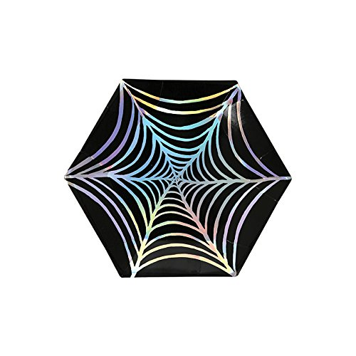 [Halloween Party Supplies Halloween Decorations Ideas Small Paper Plates Cob Web 4 x 4 Inches Pk of] (Costumes Ideas For 4)