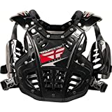Fly Racing Convertible II Youth Boys Roost Deflector Off-Road/Dirt Bike Motorcycle Body Armor - Black / Mini