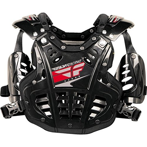 - Fly Racing Convertible II Youth Boys Roost Deflector Off-Road/Dirt Bike Motorcycle Body Armor - Black / Mini