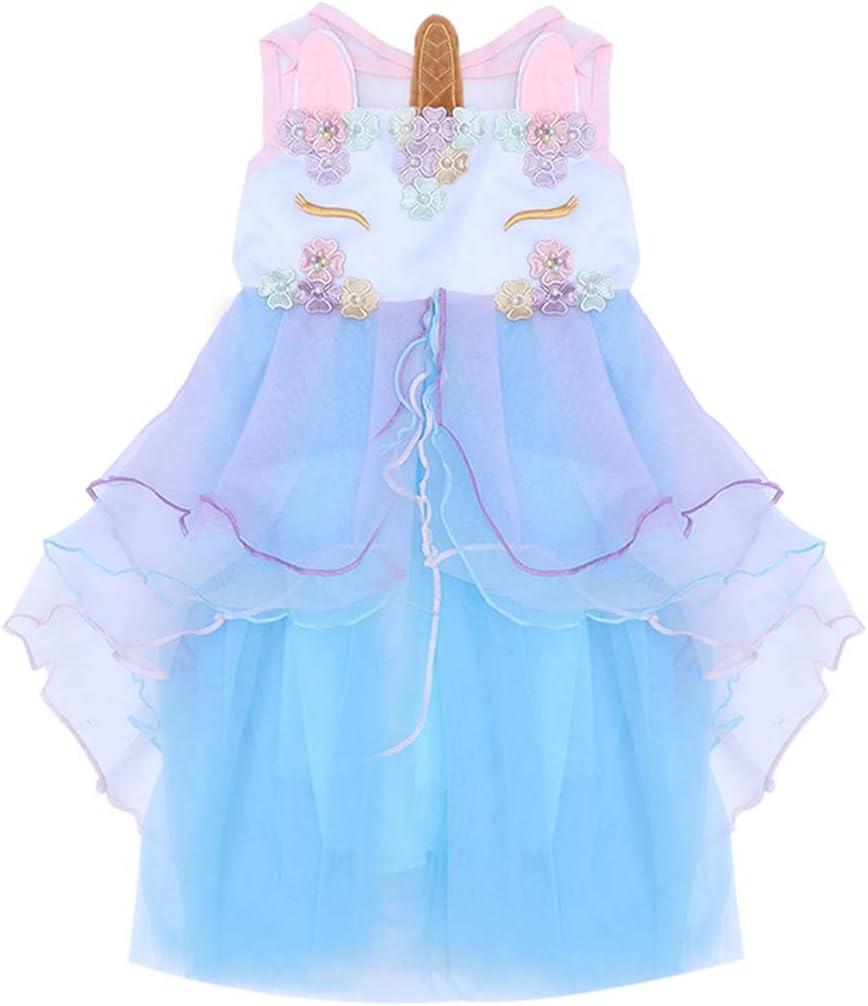 STOBOK Niños niña Vestido Unicornio cumpleaños Concurso Fiesta ...