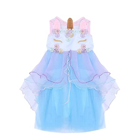 STOBOK Niños niña Vestido Unicornio cumpleaños Concurso ...
