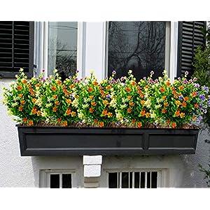 LUCKY SNAIL Artificial Flowers, Fake Outdoor UV Resistant Boxwood Shrubs Plants, Lifelike Plastic Flowers for Indoor Outdoors Home Office Garden Wedding Sidewalk Trim Decor,5 Pcs(Mixture) 4