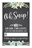 WEDDING HASHTAG SIGN. Beautiful social media share sign for all wedding receptions, add your own hashtag