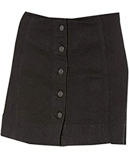 2e83621b15 Amordaily A-Line Skirt Corduroy Mini Skirt with Pockets Button Front ...