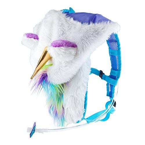 Dan-Pak Hydration Pack 2l - Magical Unicorn - Furry Rainbow Plush Hood!