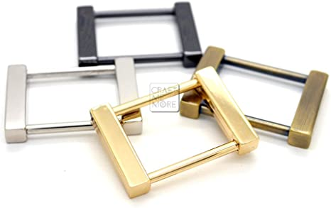 CRAFTMEmore Rectangular Screw Rings Buckle Strap Connector Purse Hardware Bag Loop 4 pcs 3//4 or 1 Inch 3//4 Inch, Gold