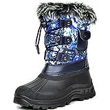 DREAM PAIRS Little Kid Ksnow Blue Multi Isulated Waterproof Snow Boots - 13 M US Little Kid