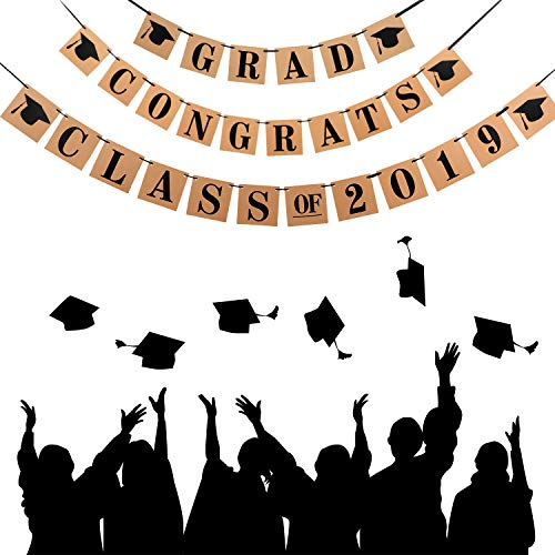 3 Pieces Graduation Banners Congrats Grad Banner Class