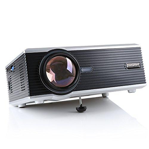 Home Mini Beamer, Distianert 1200LM LED 1920X1080P HD Tragbares Home Theater Kino Video Projektor