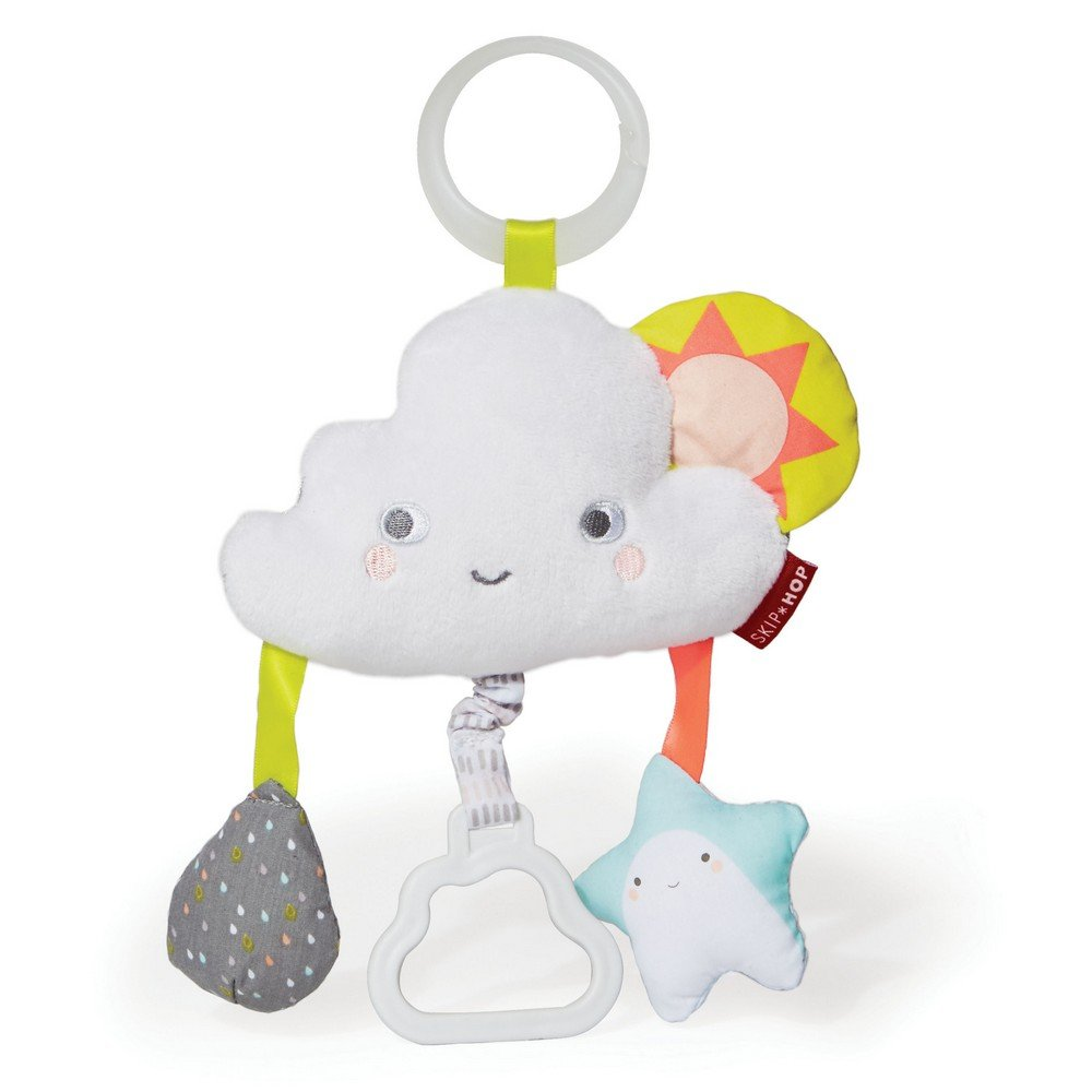 Skip Hop Silver Lining Cloud Jitter Stroller Toy, Multi