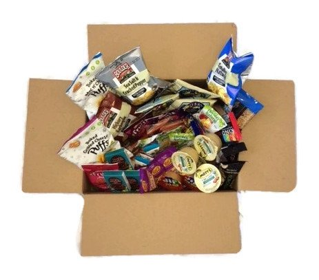 Gluten Free Snacks Care Package Gift in a Box Bundle (44 Snacks)