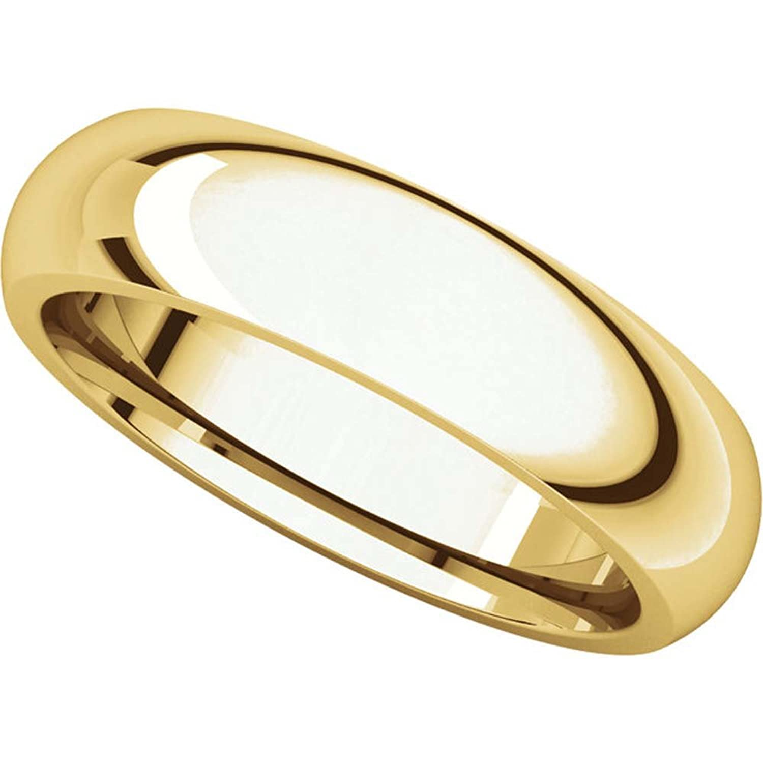 05.00 mm Comfort-Fit Wedding Band Ring in 24K Yellow Gold ( Size 10 )