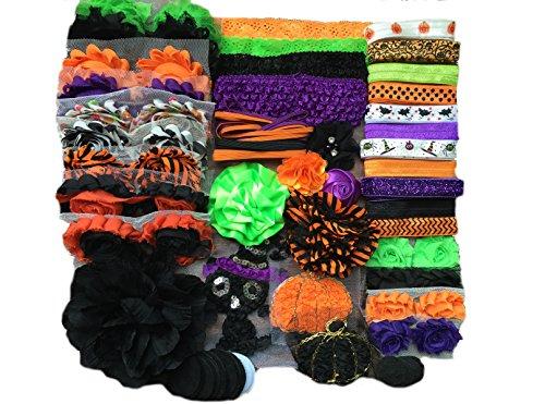 Bowtique Emilee Baby Shower Headband Kit DIY Headband Kit makes over 30 Headbands - Halloween -