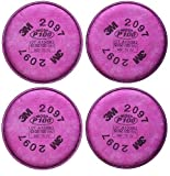 3M 2097 P100 Particulate Filter with Organic Vapor Relief, 2 Pairs (4 Filters)
