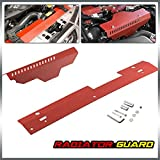 Radiator Shroud & Pulley Belt Cover Combo For 2002-2007 Subaru WRX & STi Red