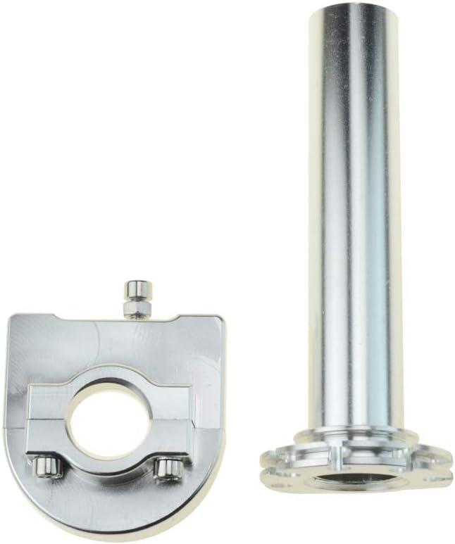 WOOSTAR 22mm 7//8Poign/ée dacc/él/érateur r/églable pour cyclomoteur GY6 139QMB 157QMJ Argent