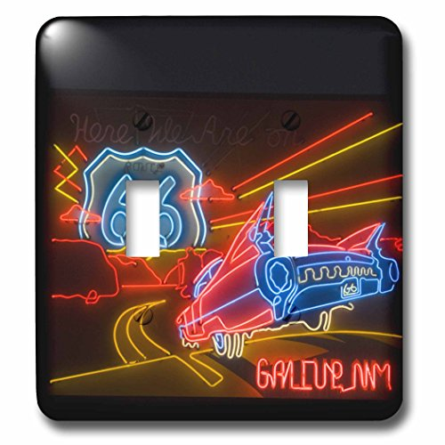 3dRose lsp_92986_2 Route 66 Neon Sign-Gallup Chamber of Commerce-US32 TDR0060-Trish Drury Double Toggle Switch ()