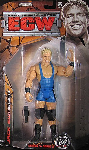Jakks Pacific, WWE, ECW Wrestling Series 5 Action Figure, Jack Swagger (Jack Swagger Toys)