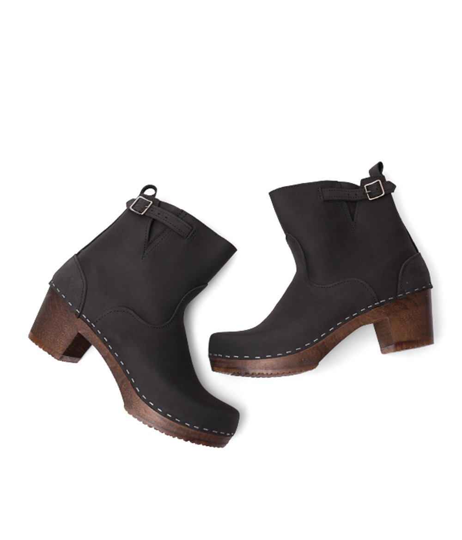Sandgrens sueco botas de tacón de madera de tacón alto para las mujeres  f46cc70810c