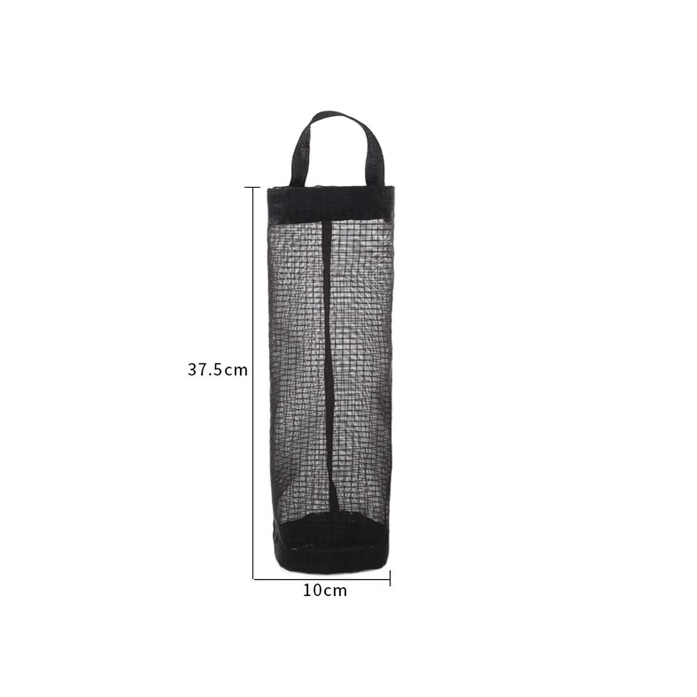 MQUPIN 3 Pack Plastic Bag Holder Dispensers+10Pack Strong Hooks Mesh Hanging Shopping Plastic Grocery Bag Holder Organizer Dispenser for Kitchen Garbage Trash Containers Storage Recycling Grocery Pocket Containers