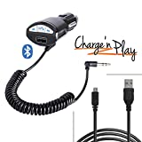 iBOLT MusicPlay & Charge 2m microUSB Cable with Bluetooth AUX-out Charger for Bluetooth enabled Android phones: Samsung Galaxy S6 and S6 Edge ; Samsung Galaxy S4, S5 & Note 3 & 4, HTC's, LG's, Nexus, Moto's & Sony's