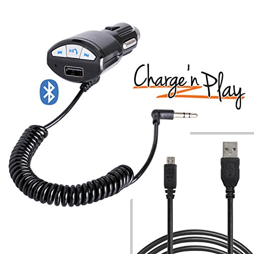 iBOLT MusicPlay & Charge 2m microUSB Cable with Bluetooth AUX-out Charger for Bluetooth enabled Android phones: Samsung Galaxy S6 and S6 Edge ; Samsung Galaxy S4, S5 & Note 3 & 4, HTC's, LG's, Nexus, Moto's & Sony's by iBOLT