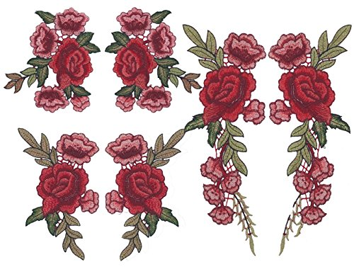 Embroidered Flower Applique - 8