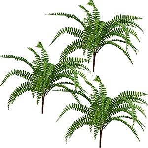 "Lily Garden 18"" Artificial Soft Plastic Fern - Package of 3 53"