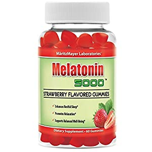 Melatonin 5000 Strawberry Flavored Gummies Enhances Restful Sleep and Relaxation