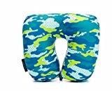 HOMEE Office Travel Aircraft Pillow Cervical Spine Physiotherapy U-Restraint U-Restraint Lunch Sleeping Pillow U-Pillows Shin, Camouflage Blue,Blue camouflage