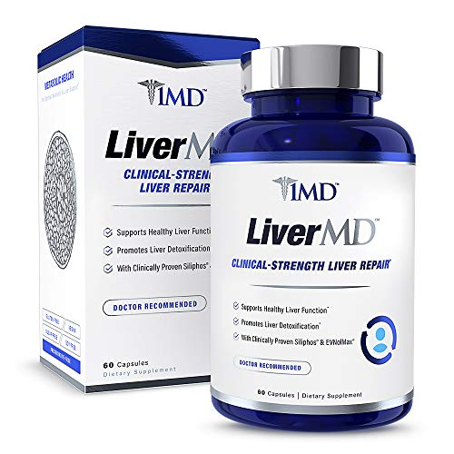 1MD LiverMD – Liver Cleanse Supplement Milk Thistle Extract – Highly Bioavilable, Clinically Studied for Liver Detox 60 Capsules