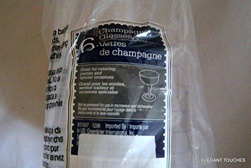 6 ct Plastic Champagne Glasses 4 oz product image