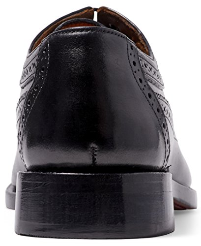 Anthony Veer Men's Regan Oxford Wingtip Leather Shoes In Goodyear Welted Construction (14 D(M) US, Black) by Anthony Veer (Image #2)