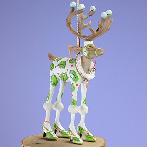 - Patience Brewster Mini Dashaway Vixen Reindeer Ornament Christmas Holiday Tree Ornament