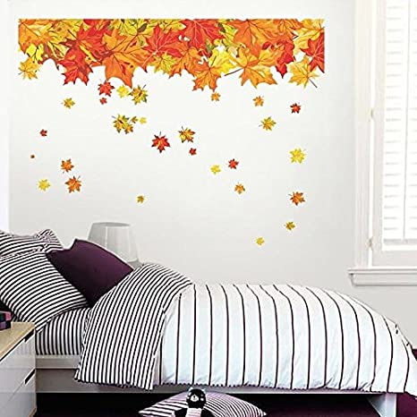 079e674f2a1 Buy Happy Walls Maple Tree Leaves Wall Sticker Decal (6929) Online at Low  Prices in India - Amazon.in