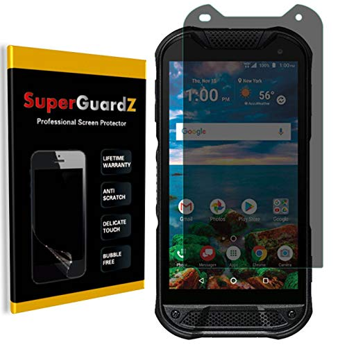 for Kyocera DuraForce Pro 2 (2nd Gen) Screen Protector [Privacy Anti-Spy], SuperGuardZ, Anti-Glare, Anti-Scratch, Anti-Bubble [Lifetime Replacement] (Kyocera Phone Screen Replacement)