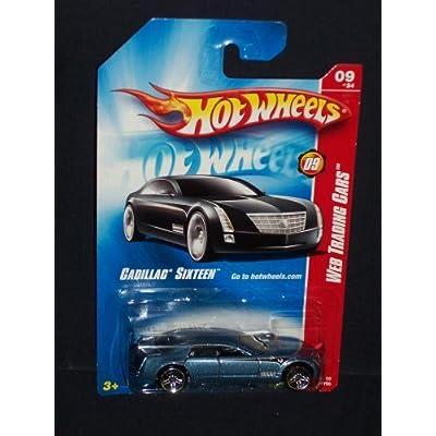 Hot Wheels 2008 085 Web Trading Cars # 9 of 24 9/24 Cadillac Sixteen Medium Blue 2008 85 1:64 Scale: Toys & Games