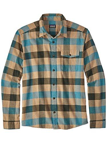 Patagonia Mens Lightweight Fjord Flannel Shirt - Men's Upriver/Filter Blue XXL