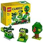 LEGO Classic MattonciniVerdiCreativi, Giocattoli per Bambini dai 4 Anni in su, Introduzione ai Set, 11007 LEGO