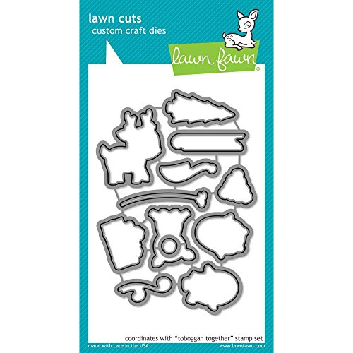 - Lawn Fawn Lawn Cuts Custom Craft Die - Toboggan Together (LF977)
