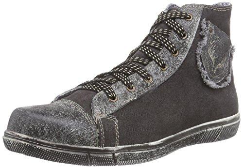 TrachtenRebell Chris, Herren Hohe Sneakers, Grau (Smoke), 45 EU