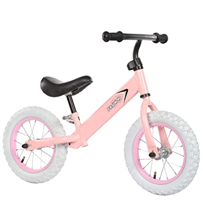Adjustable Balance Bike for Kids, No Pedal Training Bicycle for Children Ages 1,2,3,4,5,6 Toddlers Walking Bicycle Balancing Bikes,Pink: Home & Kitchen