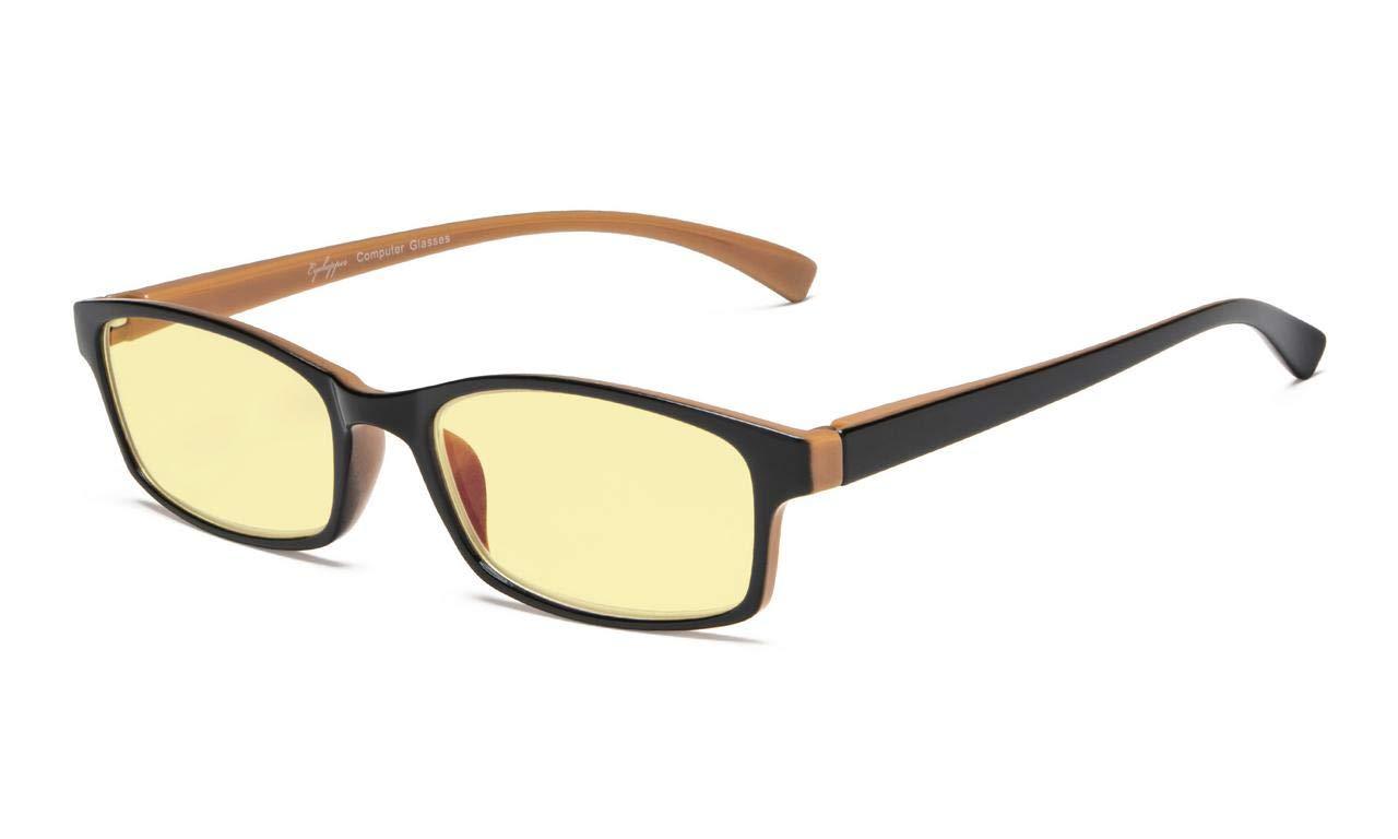 アイキーパーブルーライトブロッキングコンピューターメガネ - イエローティンテッドレンズ老眼鏡(ブラックブラウン、2.00)   B07LG4WGXY