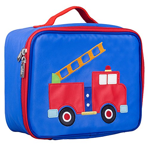 Olive Kids 78631 Embroidered Lunch Box, Fire Truck Fire Truck Lunch Box
