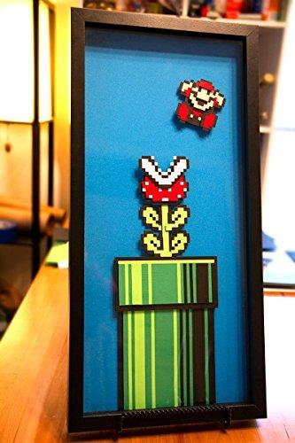 Piranha Plant  Super Mario 3  8 bit  hand cut paper art