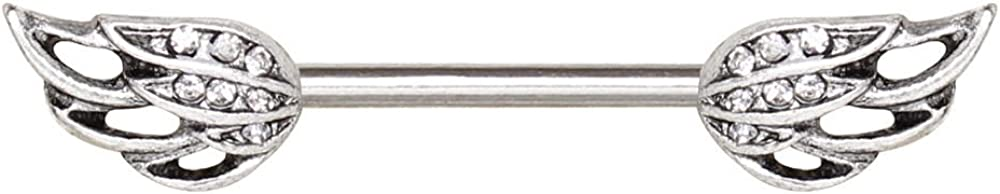 316L Stainless Steel Angel's Wing WildKlass Nipple Bar